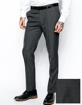 Asos Slim Fit Suit Pants In Gray Dogstooth
