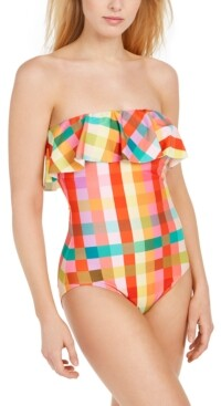 Kate Spade Strapless One-Piece Swimsuit Women's Swimsuit