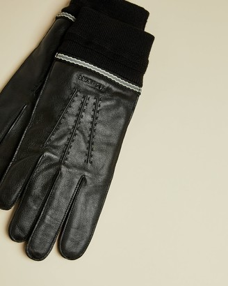 Ted Baker Webbing Cuff Leather Gloves