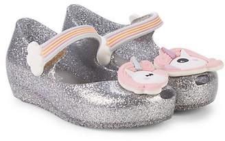 Mini Melissa Little Girl's Girl's Unicorn Detail Ballet Flats