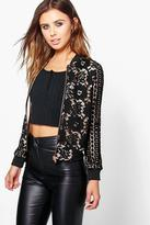 Boohoo Petite Darcy Contrast Lace Bomber Jacket