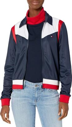 Tommy Hilfiger Collared Varsity Knit Track Jacket
