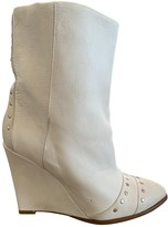 IRO White Leather Ankle boots