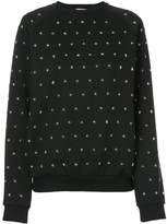 Giamba star studded sweatshirt