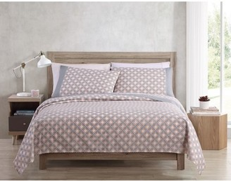 Freshee 3-Piece Twin XL Sheet Set with Intellifresh Technology, Grey Cathedral