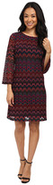rsvp Lauren Long Sleeve Patterned Dress