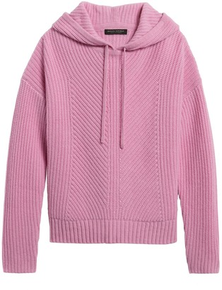 Banana Republic Cashmere Boxy Cropped Hoodie