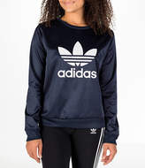 adidas Women's Originals Trefoil Satin Crew Sweatshirt