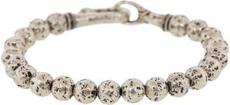 John Varvatos Silver Bead Bracelet