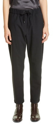 Brunello Cucinelli Monili Side Stripe Wool Blend Track Pants