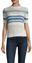 Current/Elliott Linen Striped Crewneck Sweater