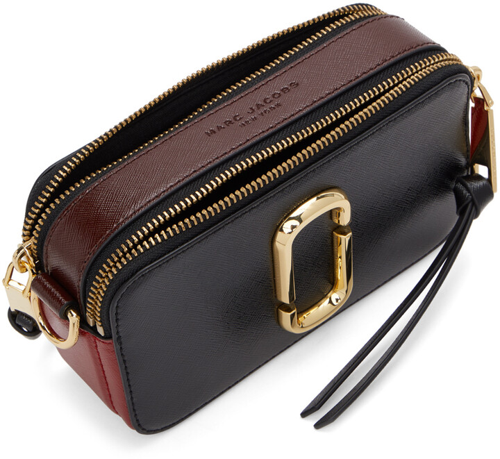 Thumbnail for your product : Marc Jacobs Black & Red 'The Snapshot' Bag