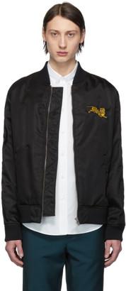 Kenzo Black Jumping Tiger Bomber Jacket