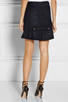 Prabal Gurung Flared wool-blend skirt