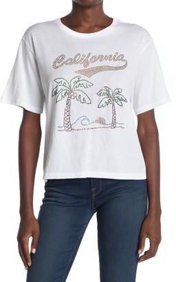 le superbe Souvenir California Rhinestone T-Shirt