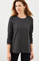 J. Jill Ponte Knit Jacquard-Diamonds Top