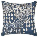 Jaipur Blue/White En Casa By Luli Sanchez Throw Pillow