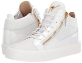Giuseppe Zanotti May London Mid Top Zayn Sneaker (Bianco) Men's Lace up casual Shoes