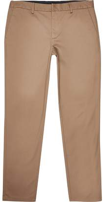 River Island Big and Tall brown slim fit chino trousers