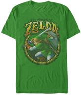 Fifth Sun Men's Tee Shirts KELLY - Legend of Zelda Kelly Green Link Groove Tee - Men