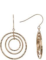 Candela 10K Yellow Gold Triple Circle Dangle Earrings