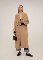 MANGO Belted wool coat medium brown - S - Women