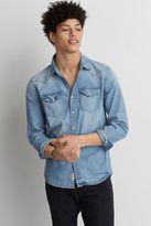 American Eagle Outfitters AE Flex Denim Indigo Shirt