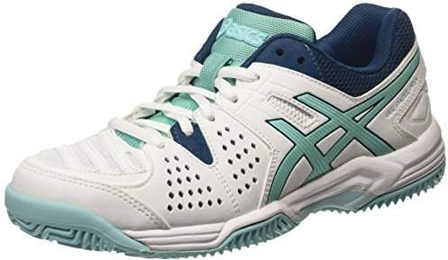 Asics Women's Gel-Padel Pro 3 Sg Tennis Shoes White/Pool Blue Steel 0139