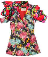 Ronald Van Der Kemp - Floral-print Cotton-blend Jacket - Black