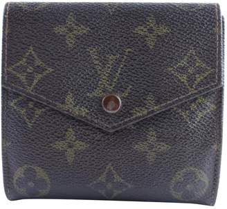Louis Vuitton Brown Cloth Clutch Bag