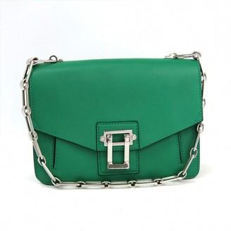 Proenza Schouler Hava Green Leather Handbags