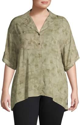 Jones New York Short Sleeve Button-Down Camp Shirt