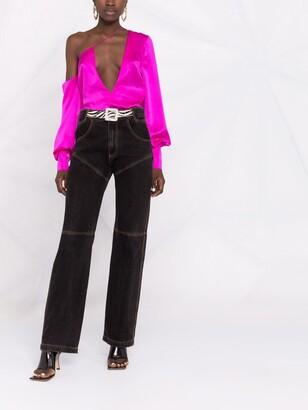 LaQuan Smith deep V-neck blouse