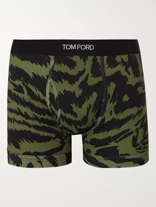 Tom Ford Zebra-Print Stretch-Cotton Boxer Briefs