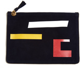 Clare Vivier Abstract Flat Clutch