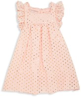 Pippa & Julie Little Girl's Metallic Polka Dot Flare Dress