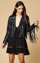 Somedays Lovin Born Again Faux Leather Denim Moto Jacket