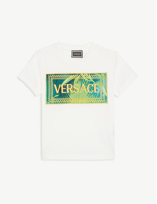 Versace Jungle-logo cotton T-shirt 4-14 years