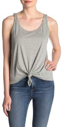 Abound Scoop Neck Knotted Front Tank