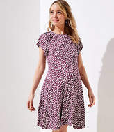 LOFT Maternity Floral Flutter Flare Dress