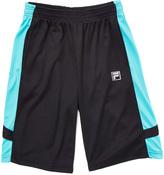 Fila Black & Teal Core Basketball Active Shorts - Boys