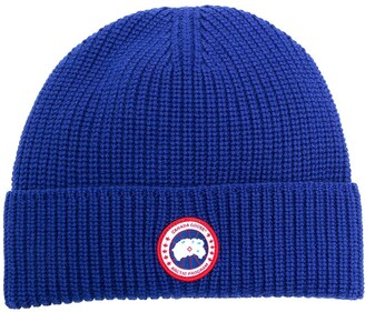 Canada Goose Ribbed Knit Beanie Hat