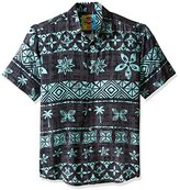 Margaritaville Men's Tapa Stripe Bbq Shirt