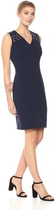 Sharagano Women's Dress with Grommets
