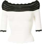 Yigal Azrouel off-shoulder crochet top - women - Spandex/Elastane/Rayon - XS