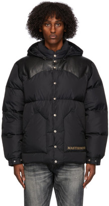 Mastermind Japan Black Rocky Mountain Featherbed Edition Down Parka