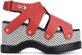 Proenza Schouler patterned platform sole sandals - women - Calf Leather/Leather/rubber - 38.5