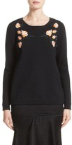 Jason Wu Women's Floral Embroidered Merino Wool Blend Sweater