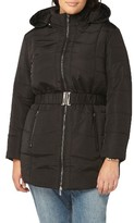 Evans Plus Size Women's Belted Quilted Jacket