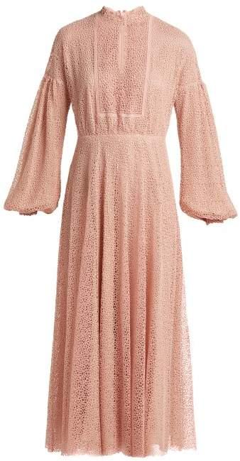 Giambattista Valli Circle Macrame Lace Long Dress - Womens - Pink